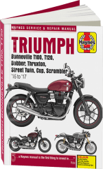 9781785214011 Книга: руководство / инструкция по ремонту мотоциклов TRIUMPH BONNEVILLE (ТРИУМФ БОННЕВИЛЬ) T100 / T120 / BOBBER / THRUXTON / STREET TWIN / CUP and SCRAMBLER бензин 2016-2017 годы выпуска